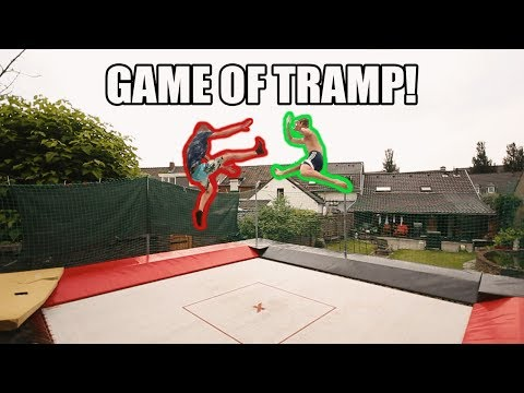 INSANE GAME OF TRAMP ON A SUPERTRAMPOLINE!