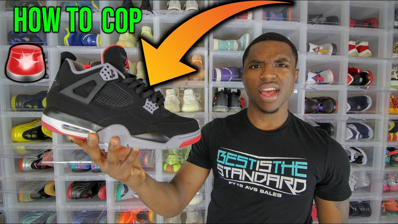 2f01feac028bf6 How To Cop Jordan Bred 4s - YouTube