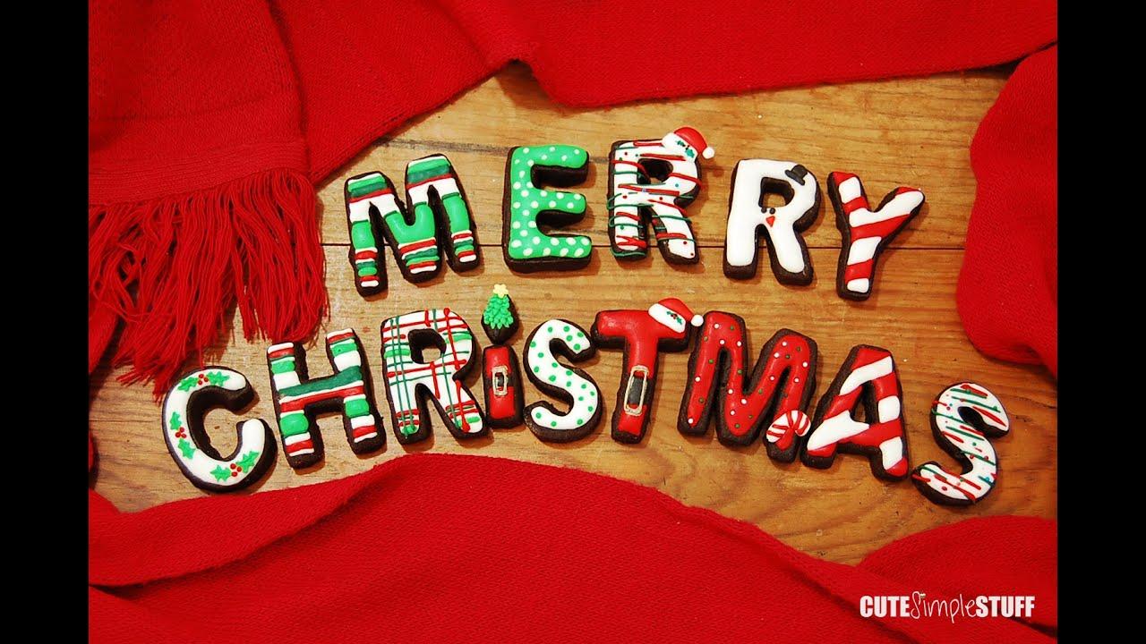 Merry Christmas Cookies - YouTube