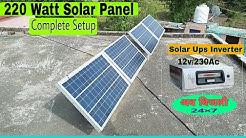 220 watt Solar Panel complete setup/ Installation. Tata Solar Setup