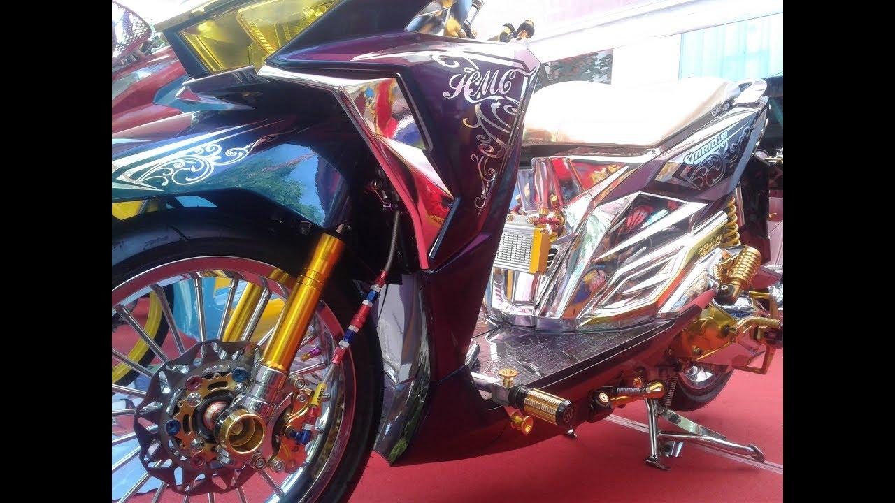 Kontes Modif Motor Keren Honda Vario 150 Kinclong Full Aksesoris