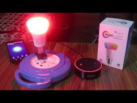 Setup Syska Smartlight With Amazon Alexa Echo Dot
