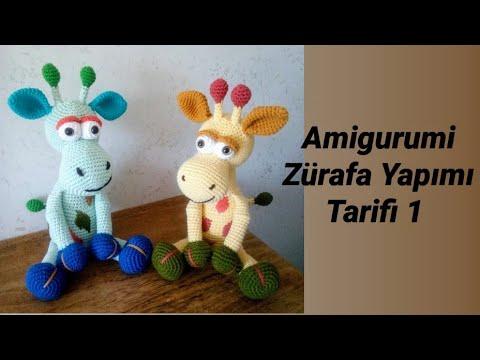 Amigurumi Zürafa Yapımı - Baş | Bölüm-2 | Giraffe Construction ... | 360x480