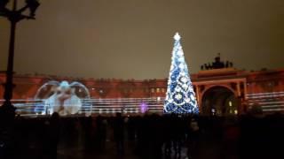 Новый год Дворцовая пл.2017 .Лазерное шоу