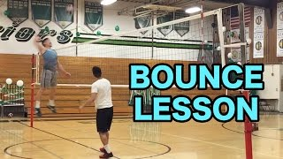 How To BOUNCE A VOLLEYBALL (Volleyball Tutorial)