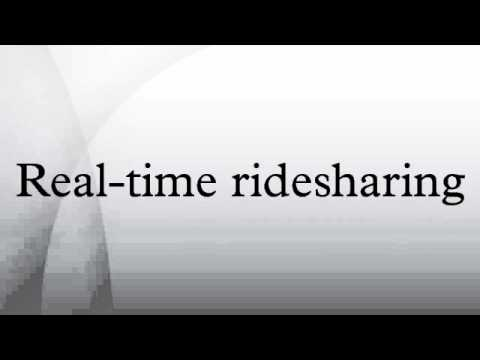Real-time ridesharing