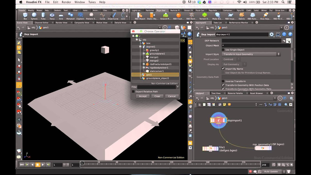 Houdini Training 101 - Caching Simulations to Disk