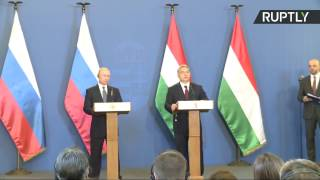 Putin, Orban speak to media in Budapest