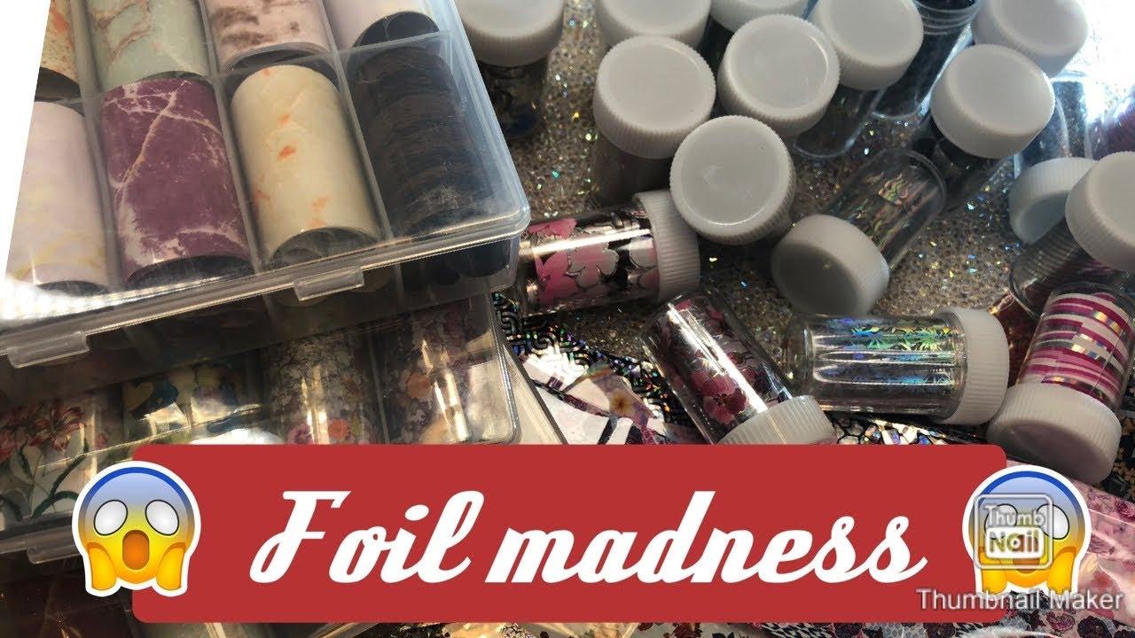 Nail #foil haul- #AliExpress haul- nail foil- nail haul