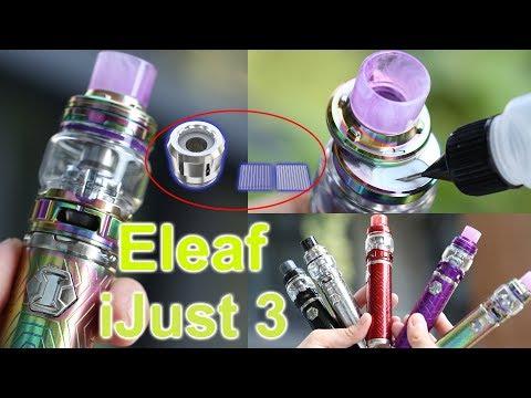 Unboxing Eleaf iJust 3 | ELLO Duro Tank  | 3000mAh 80w | Reimagined Net & Multihole Coil | ElegoMall