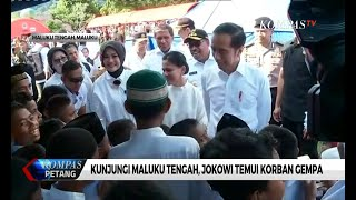 Di Maluku Tengah, Presiden Jokowi Temui Korban Gempa