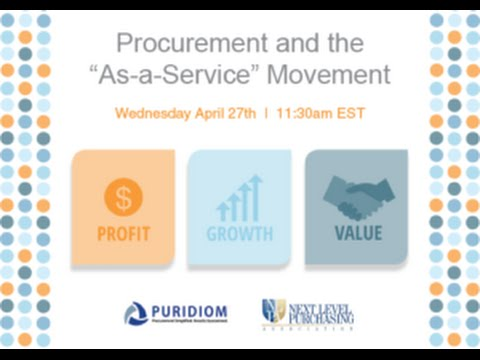 "Procurement and the ""As-a-Service"" Movement"