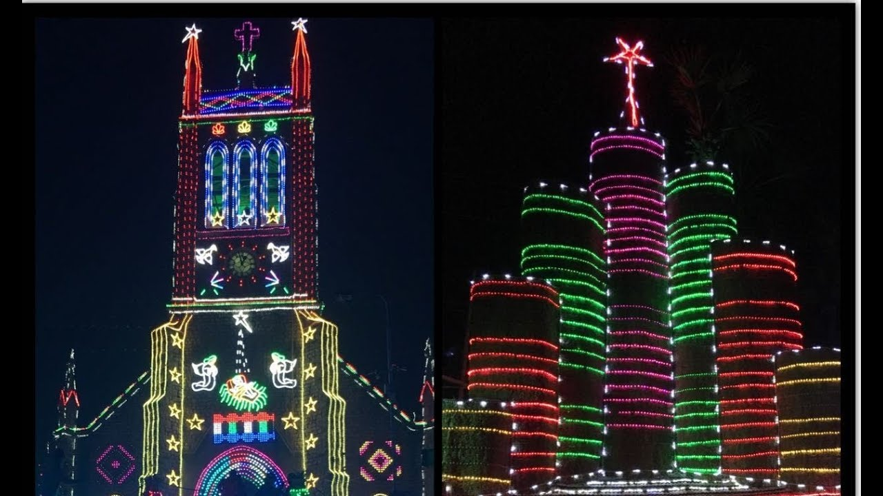 amazing christmas lights and christmas kudil kanyakumari special christmas cribs lights
