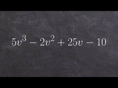 How to Factor by grouping - Factor by grouping - Factoring a polynomial