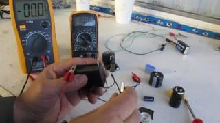 como probar los capacitores electroliticos de forma casera