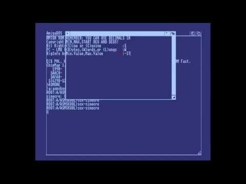 Amiga Hardware Programming 33 - Move a copper bar using sine curves