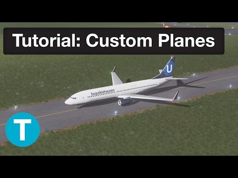 Cities Skylines Tutorials | Custom Plane Livery - with Template!