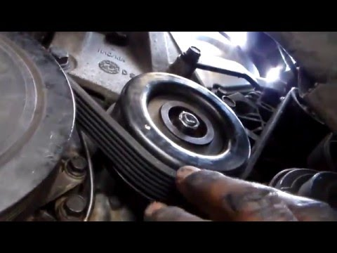 How to replace drive belts 2005 Kia sedona - YouTube