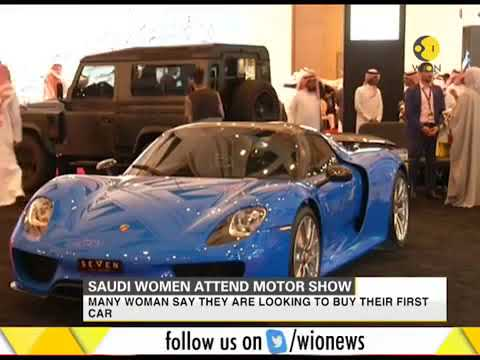 Saudi women attend motor show in Riyadh for the first time