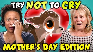 Moms React To Try Not To Cry Challenge (Mother