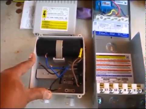 110 Volt Wiring Diagram Breaker Box Deep Well Submersible Pump Control Box Comparison Youtube