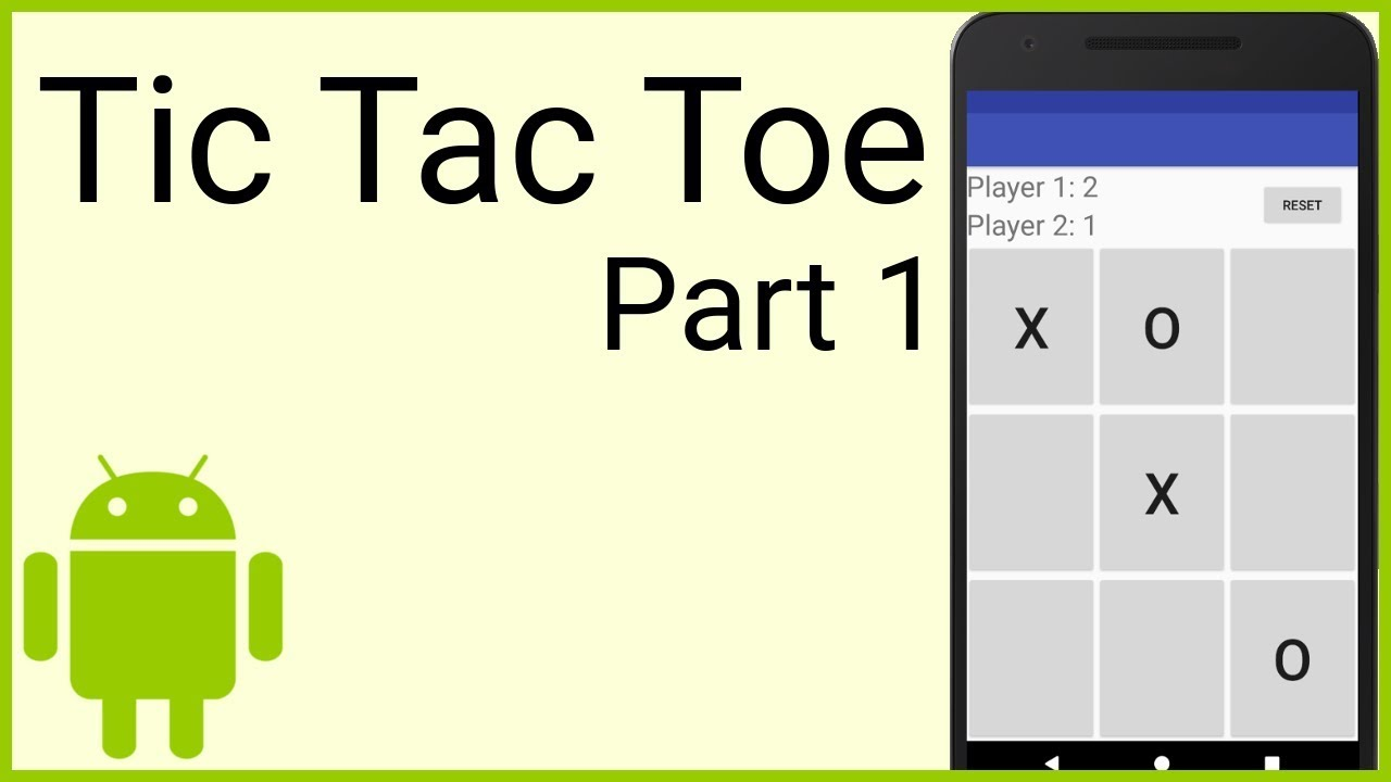 How To Make A Tic Tac Toe Game In Android Part 1 The Layout Android Studio Tutorial Youtube