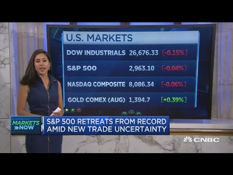 Stocks pull back after Monday's record high