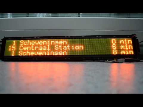 Public transport displays controlled with Raspberry Pi + open data