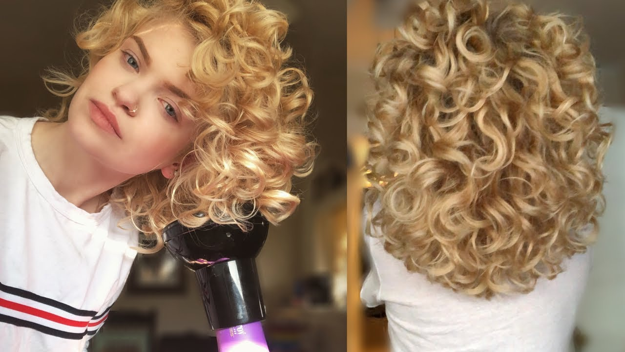 How I Diffuse My Natural Curly Hair For Voluminous 2b C Waves 3a Curls