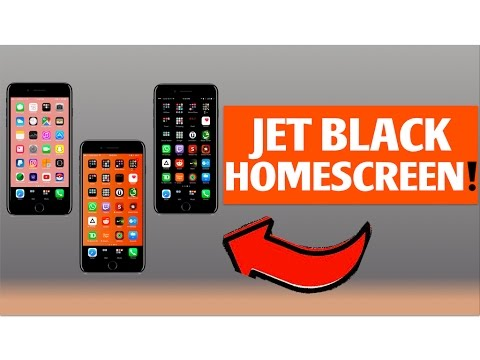 HOW TO MAKE YOUR HOMESCREEN JET BLACK! [NO JAILBREAK]