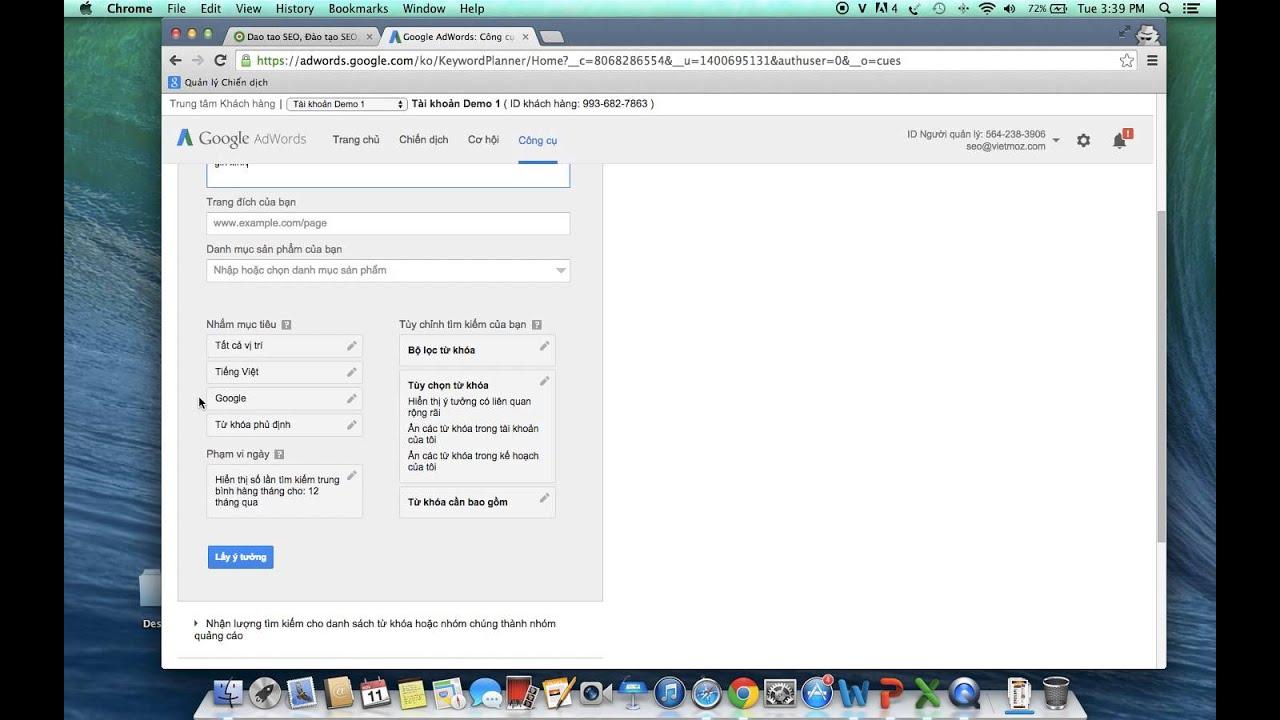 Hướng dẫn sử dụng Google Keywords Planner – Nghiên cứu từ khóa