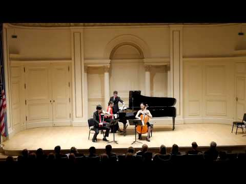 "Piazzolla- ""Four Seasons""- Gvantsa Zangaladze (Piano), Minghao Li (Violin), Christine Chen (Cello)"