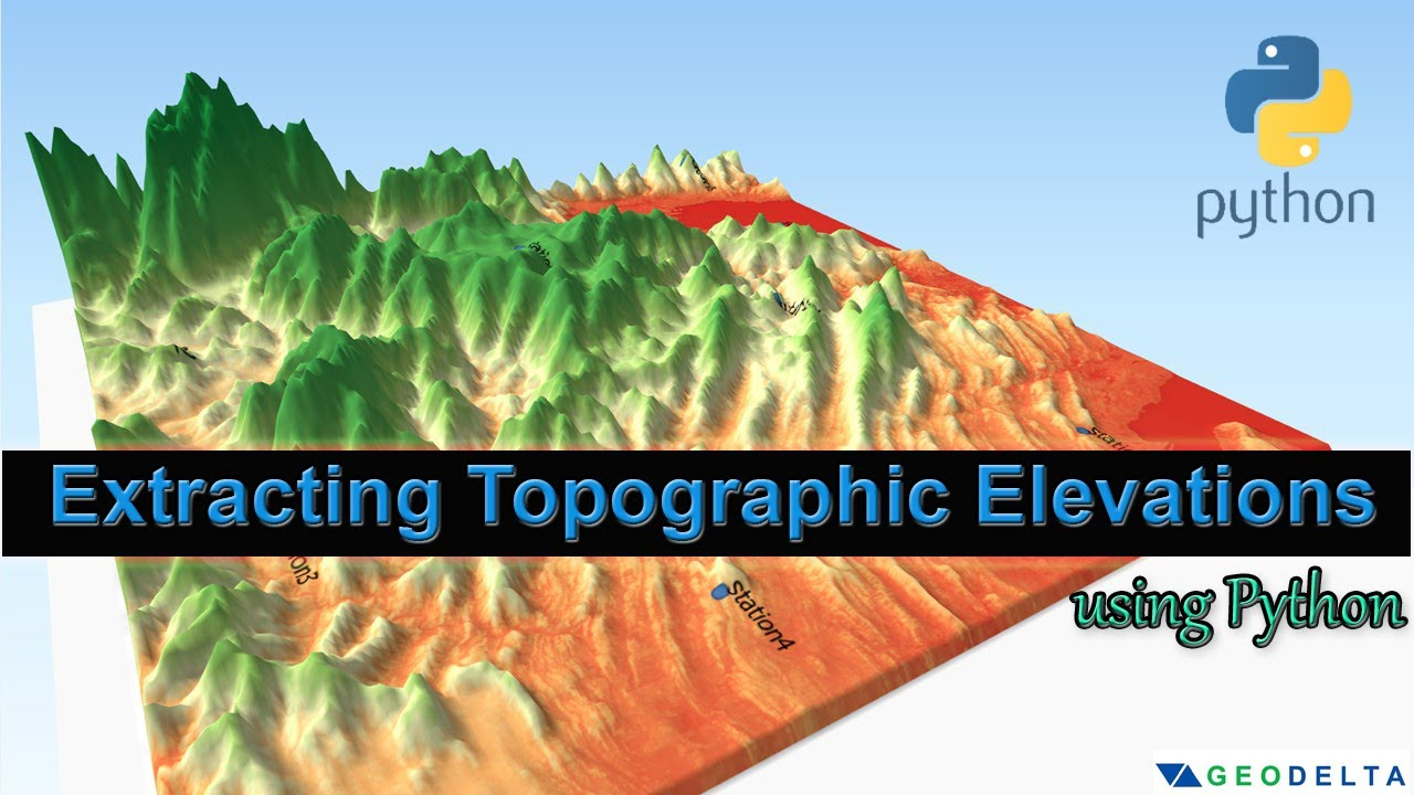 Extracting Topographic Elevations using Python