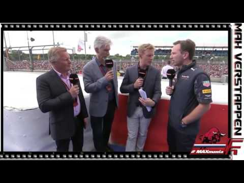 Verstappen, Horner & Ricciardo over de Race van Engeland