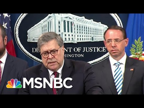 William Barr: Donald Trump Potential Obstruction Probed, Disagreed On Mueller Legal Theory | MSNBC
