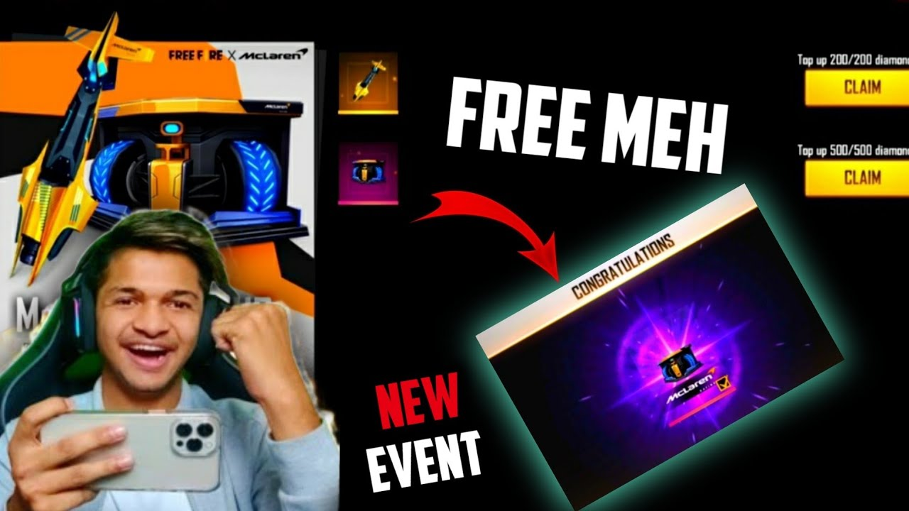 NEW GLOO WALL SKIN | MCLAREN TOP UP EVENT GIVEAWAY | FREE FIRE NEW EVENT