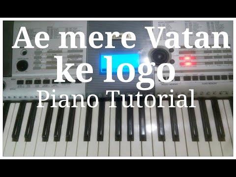Ae Mere Vatan Ke Logo Patriotic Piano Tutorial | G synth Musica |Milind Dangre