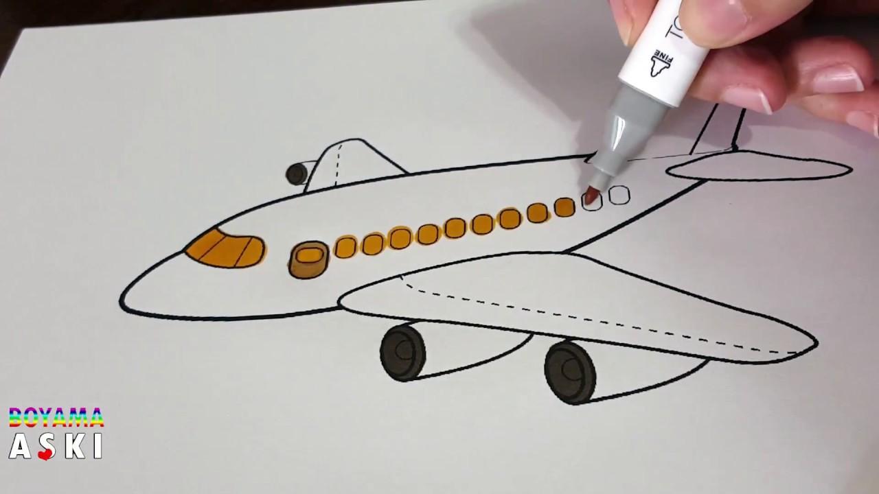 Uçak Boyama Sayfası çocuklar Için Eğlenceli Videolar Youtube