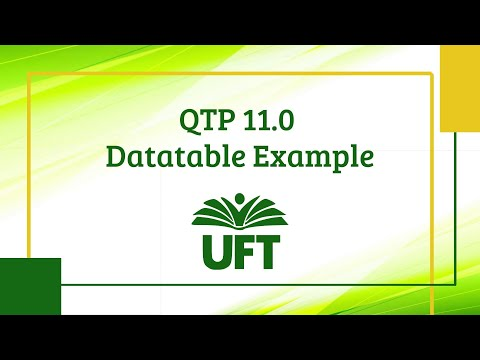 QTP 11.0 Datatable Example