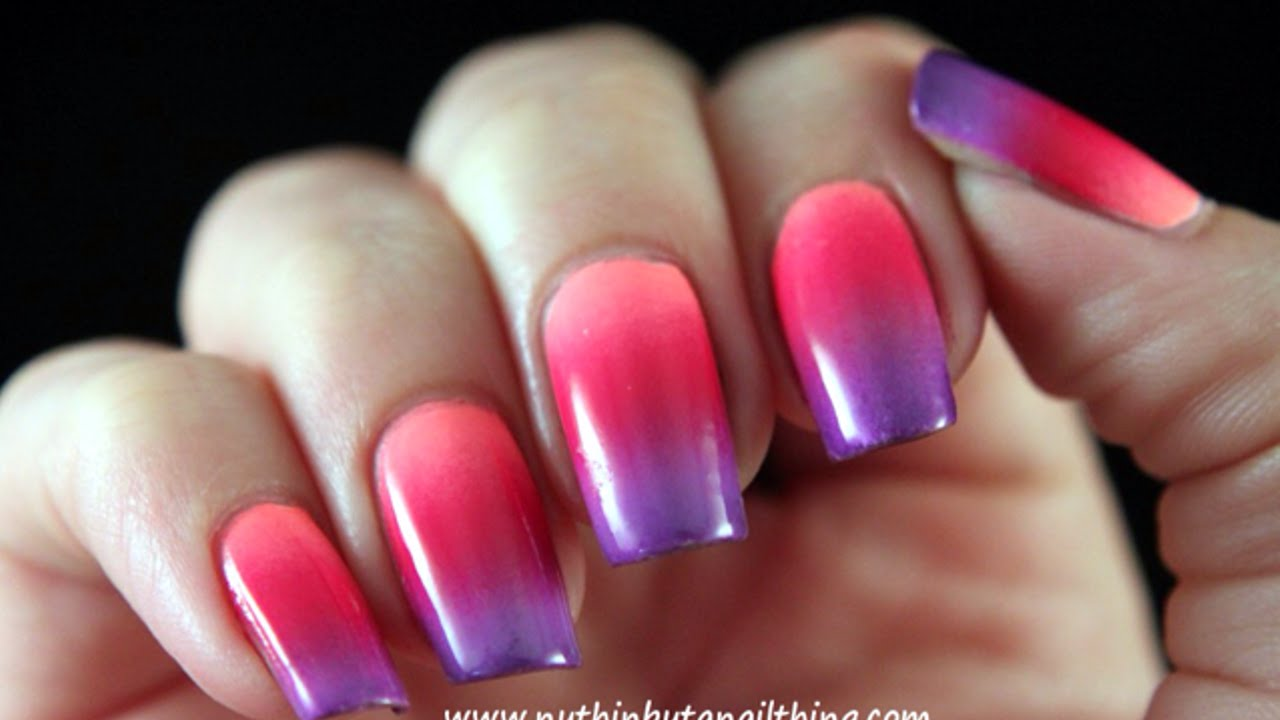 Vernis A Ongles Effet Degrade Diy Beaute Guidecentral Youtube