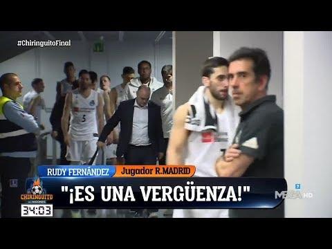 """FELIPE REYES y RUDY FERNÁNDEZ 'EXPLOTAN' tras la FINAL de la COPA del REY """"ESTO ES UN ROBO"""""""