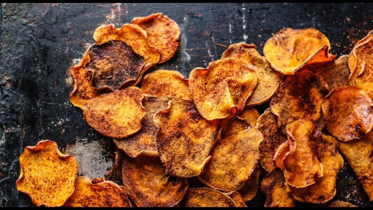 Bbq Chips How to make honey bbq sweet potato chips: gluten free ...