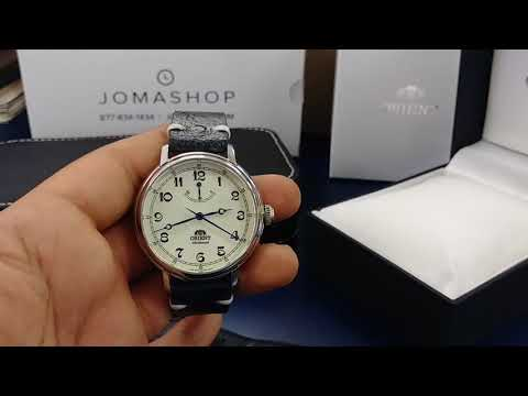 Orient Monarch Automatic Watch with CheapestNatoStraps.com Swedish Ostrich Leather Strap