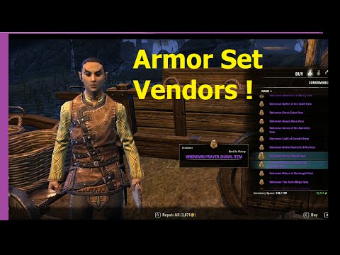 ESO - Cyrodiil Armor Set Vendors! Locations & Armor Sale Lists!
