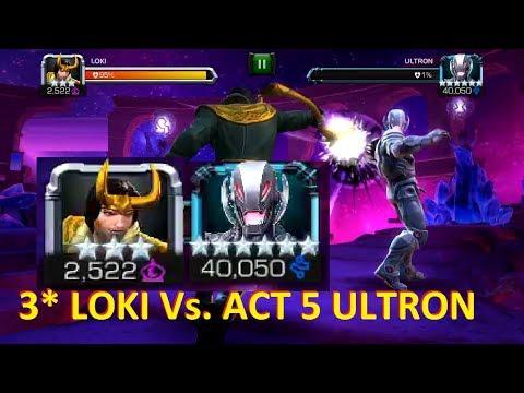MCoC: 3 STAR LOKI Vs Act 5 ULTRON | How To beat Ultron