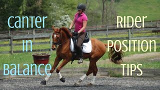 How to ride the canter with balance