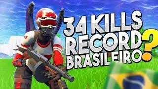 34 KILLS SOLO X SQUAD, RECORDE BRASILEIRO ? l FORTNITE