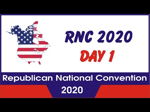 RNC 2020 Day -1 Republican National Convention : News Craze