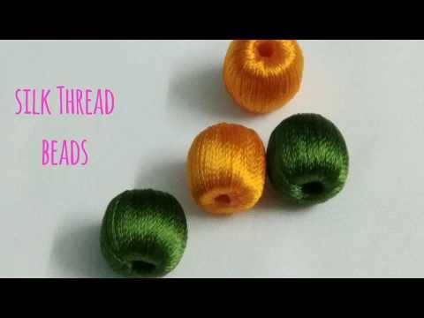 How to Wrap Silk Thread on Beads/ Silk Thread Beads Wrapping/Silk Thread Jewellery Basics
