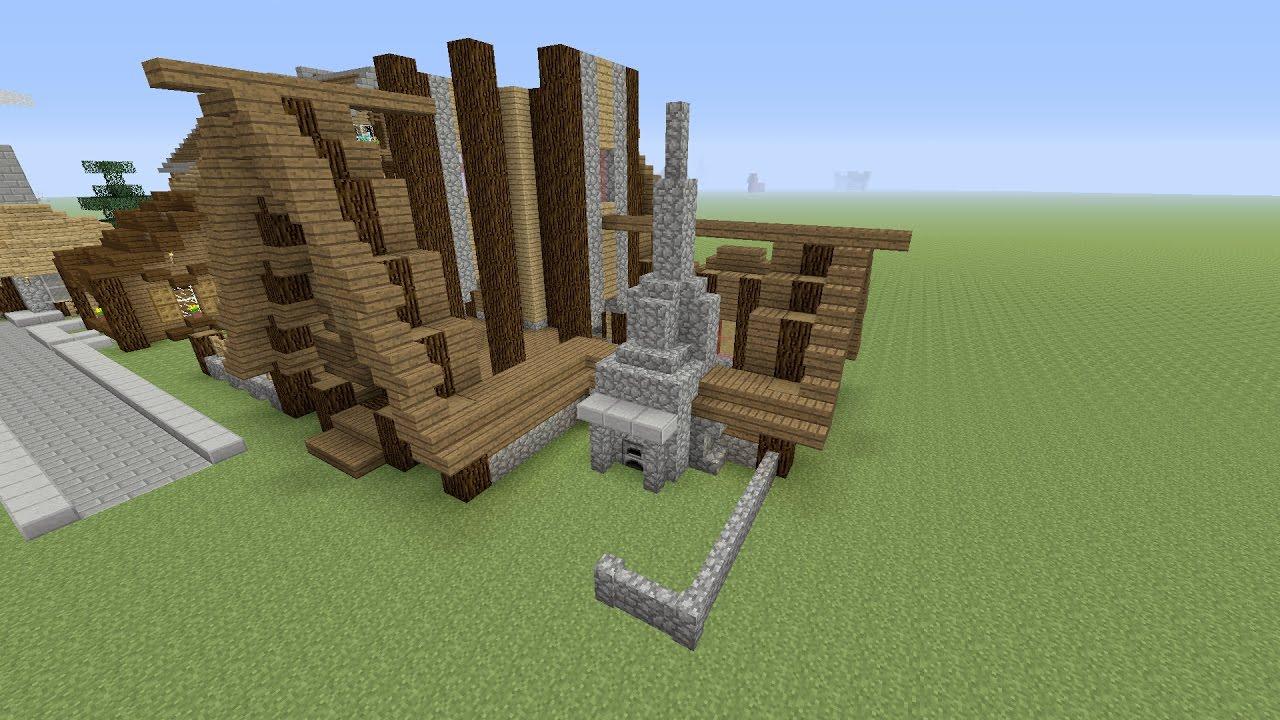 Minecraft een groot houten huis maken nederlands deel 1 for Huis maken minecraft